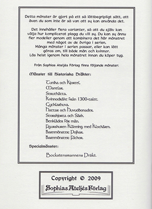 Mönster till historiska dräkter: Bockstensmannens dräkt