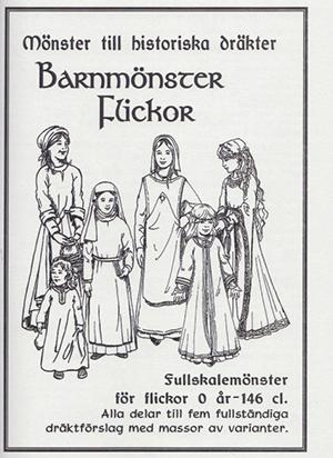 Mönster till historiska dräkter: Barnmönster flickor