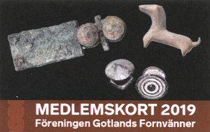 Medlemskap 2019 för en person i föreningen Gotlands Fornvänner