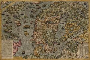 Affisch. Carta Marina 1572