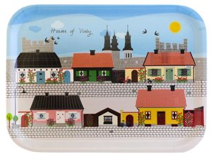 "Small breakfast tray "" Houses of Visby"""