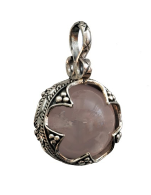 Pendant. Fröjel Marble 12-14 mm, rose quartz